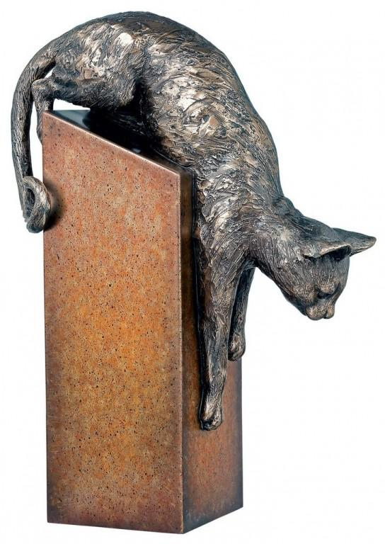 Photo of Pounce Bronze Cat Figurine 28 cm