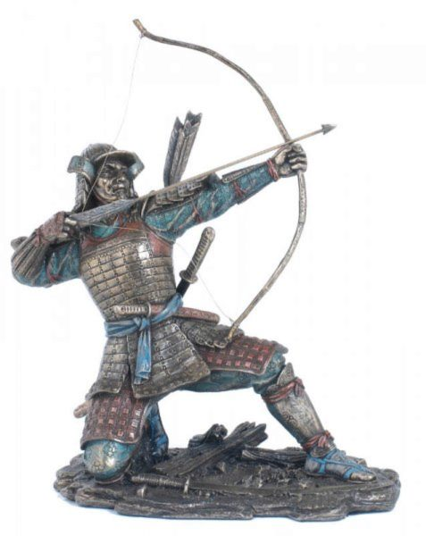 Photo of Samurai Archer Bronze Figurine 23cm