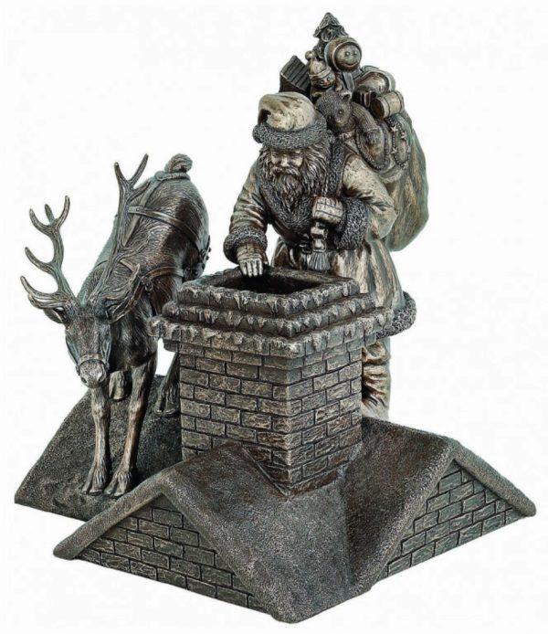 Photo of Santa is Here Bronze Figurine 26cm