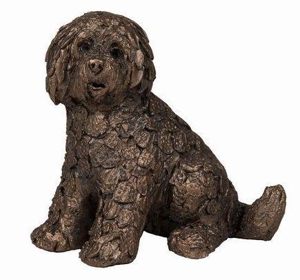 Photo of Shorty Labradoodle Bronze Figurine small Adrian Tinsley Frith Minima