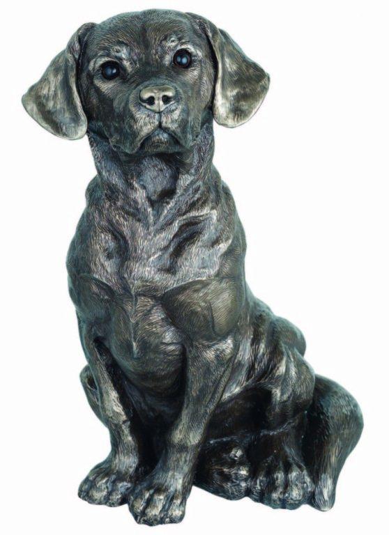 Photo of Sitting Dog Figurine 25 cm Genesis Fine Arts