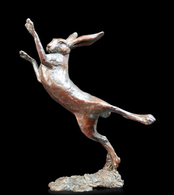 Photo of Small Hare Boxing Bronze Figurine (Limited Edition) Michael Simpson