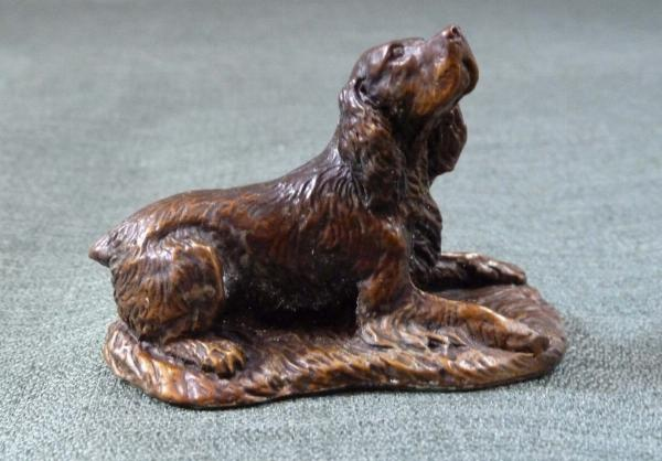 Photo of Spaniel Lying Bronze Ornament Small