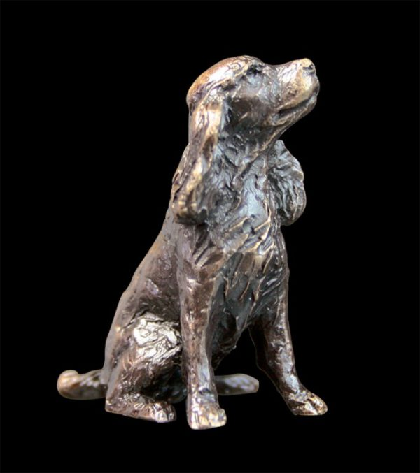 Photo of Spaniel Sitting Bronze Miniature (Butler and Peach)