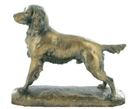 Photo of Springer Spaniel Bronze Dog Sculpture (David Geenty)