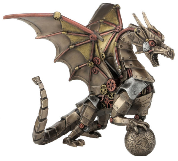 Photo of Steampunk Dragon Bronze Figurine