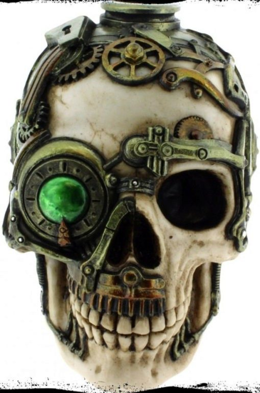 Photo of Steampunk Skull Candle Holder 16.5cm