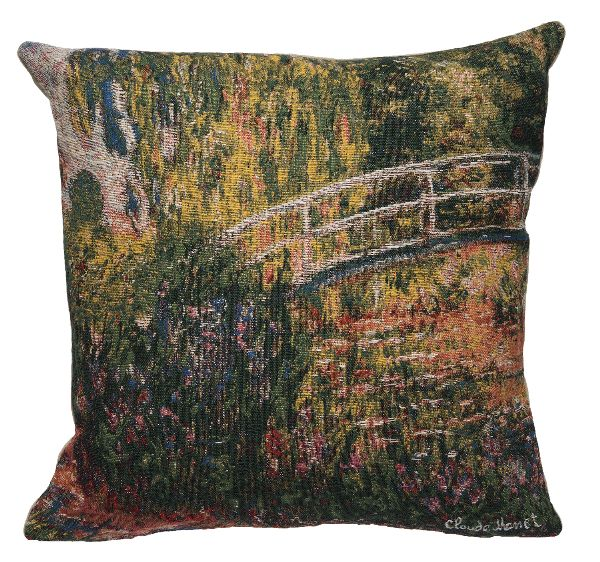 Phot of The Bridge Of Giverny By Monet Tapestry Cushion I