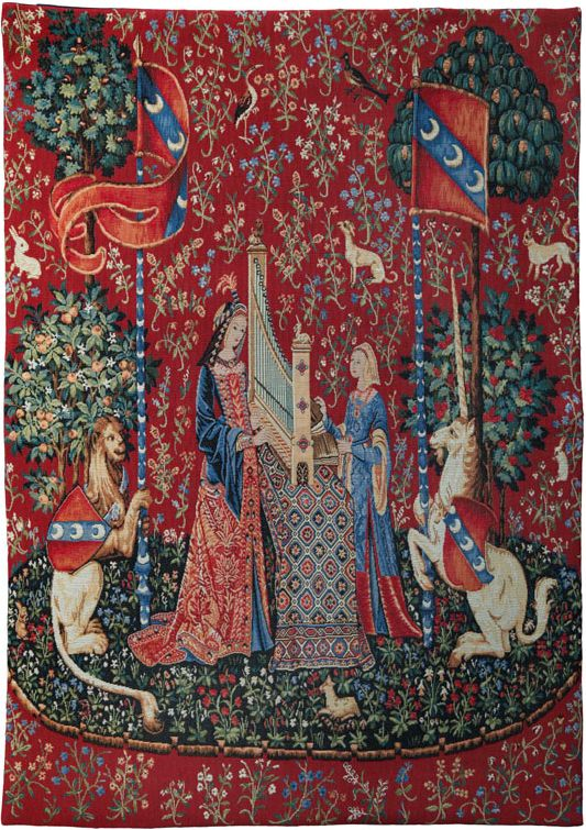 Phot of The Hearing Medieval Wall Tapestry