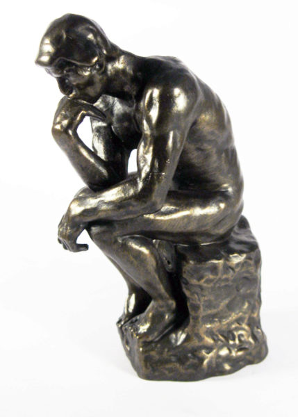 Photo of The Thinker Bronze Figure 14 cm (Auguste Rodin)