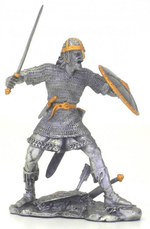 Photo of Viking Attacking Pewter Figurine