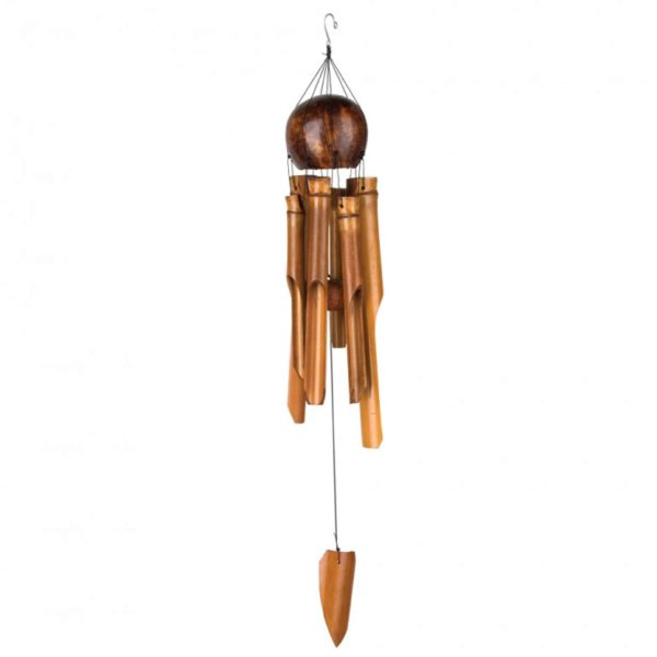 Photo of Whole Coconut Bamboo Chime Woodstock Bamboo