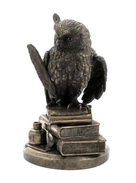 Photo of Wise Owl on Books Bronze Figurine 8.5 inches