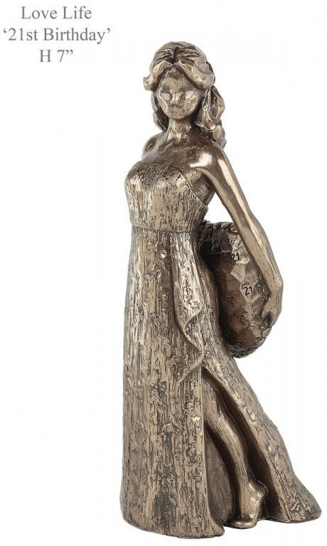 Photo of 21st Birthday Bronze Figurine