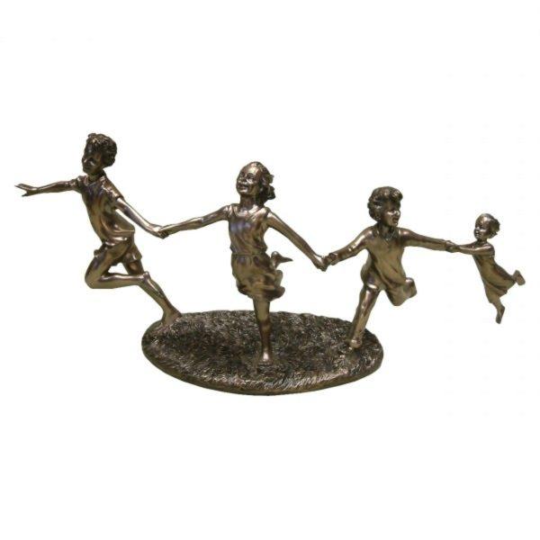 Photo of 4 Children Running Bronze Figurine (Juliana)