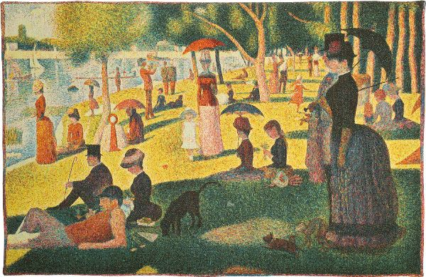 Phot of A Sunday Afternoon On The Island Of La Grande Jatte By Georges Seurat Wall Tapestry