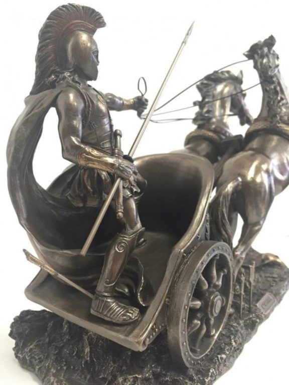 Photo of Achilles in Chariot Bronze Statue 37 cm