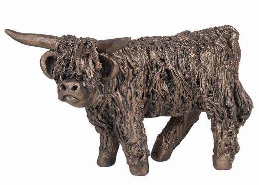 Photo of Angus Highland Bull Standing Bronze Figurine Small (Veronica Ballan) Frith Minima
