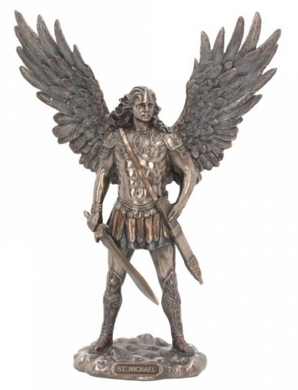 Photo of Archangel Michael Bronze Figurine