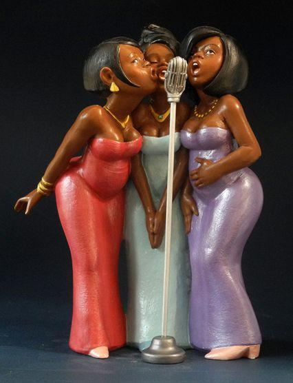 Photo of Backing Singers Figurine