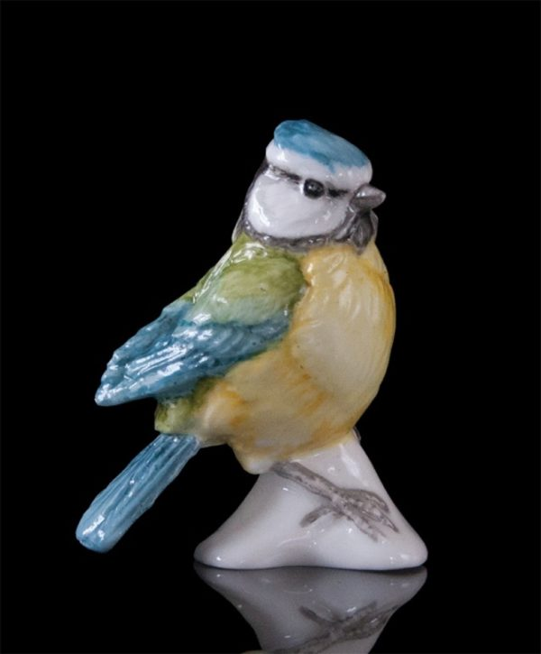 Photo of Bluetit Hand Painted Fine Bone China Miniature Figurine