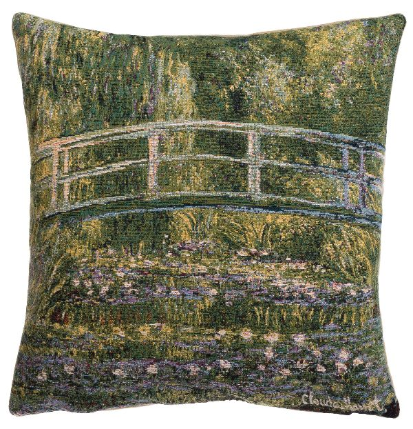 Phot of Bridge Of Giverny By Monet Tapestry Cushion Ii