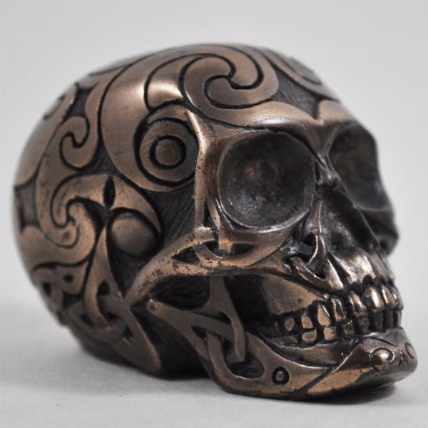 Photo of Bronze Celtic Design Small Skull