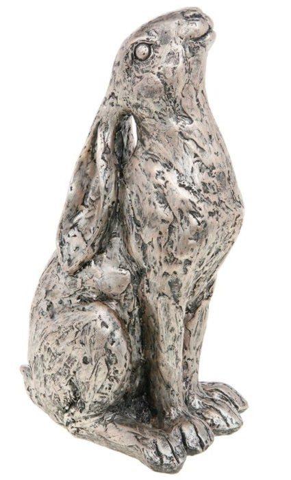 Photo of Champagne Bronze Moongazer Hare Sculpture 23 cm