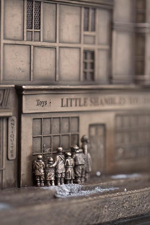 Photo of Christmas Eve Street Scene Bronze Figurine 84cm