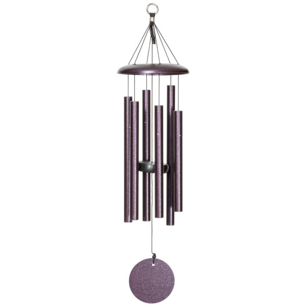 Phot of Corinthian Bells Plum Vein 27 Inch Wind Chime