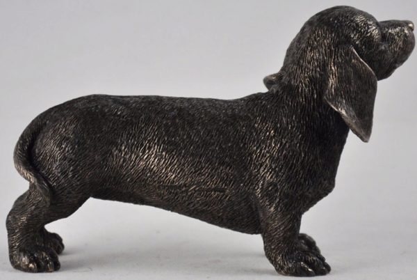 Photo of Dachshund Standing Bronze Dog Sculpture Small