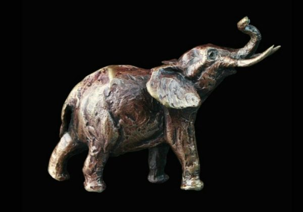 Photo of Elephant Bronze Miniature (Butler and Peach)