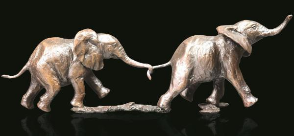 Photo of Follow my Leader Elephant Figurine (Limited Edition) Michael Simpson