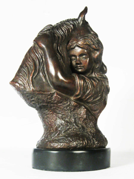 Photo of Girl And Pony Bronze Sculpture