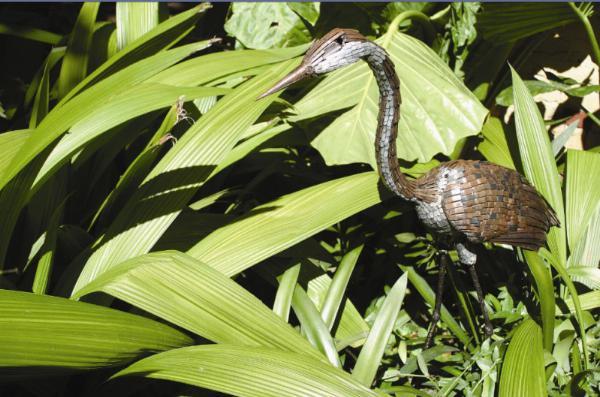 Photo of Grey Heron Metal Garden Ornament