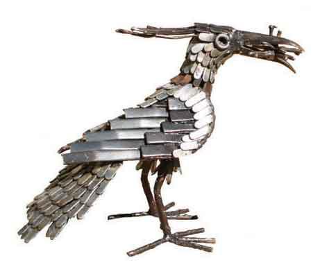 Photo of Lapwing Bird Metal Garden Ornament (Feeding)