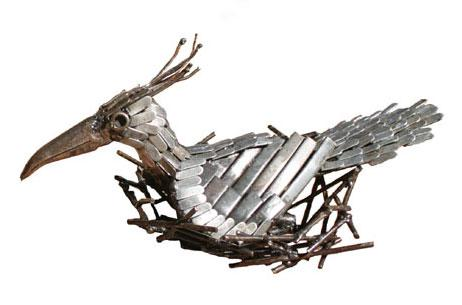 Photo of Lapwing Bird Metal Garden Ornament (Nesting)