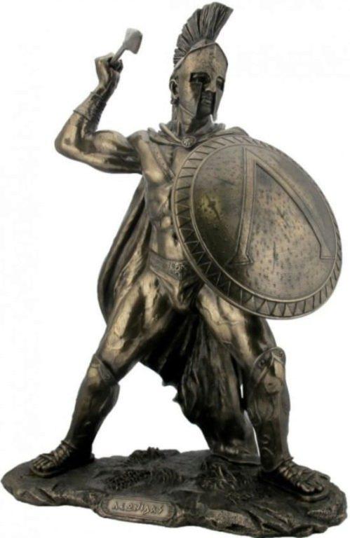 Photo of Leonidas King of Sparta Bronze Figurine Extra Large 52cm