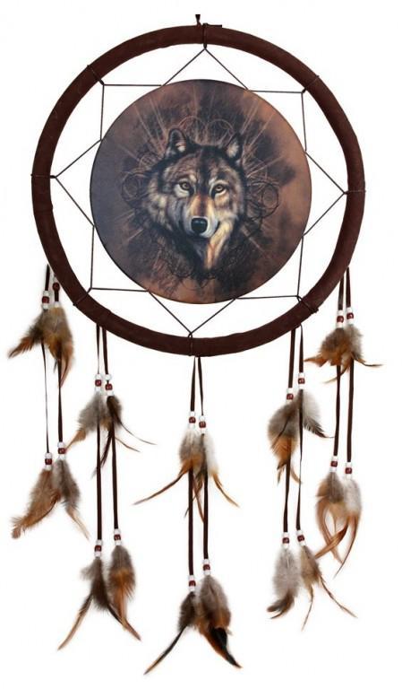 Photo of Lone Wolf Dream Catcher 33 cm