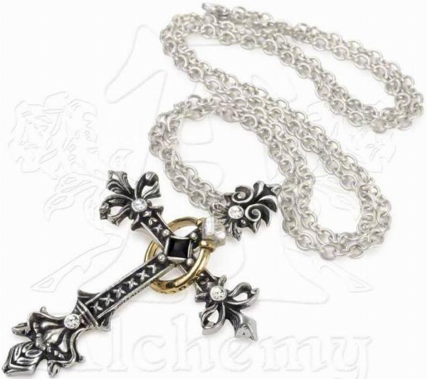 Photo of Maryam Theotokos Ring Cross Necklace