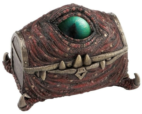 Photo of Mimic Dragon Treasure Chest Bronze Figurine