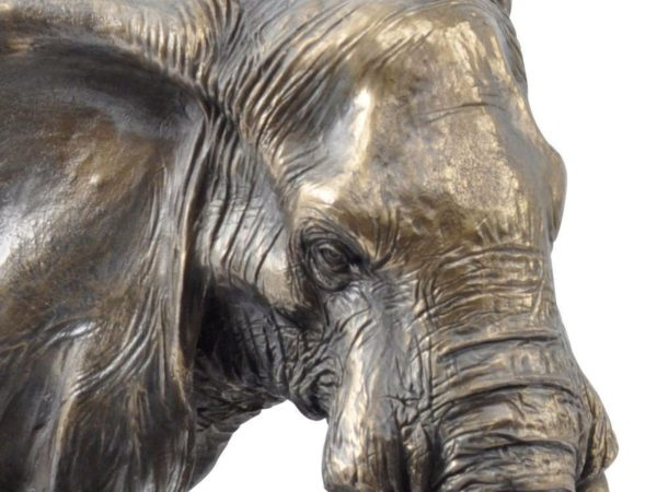 Photo of Mother And Baby Elephant Bronze Sculpture Large 44cm