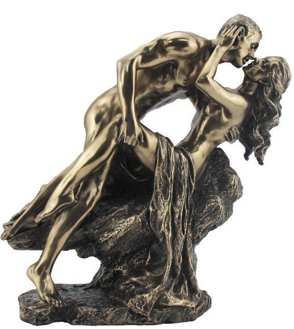 Photo of Nude Lovers on Rock Bronze Figurine