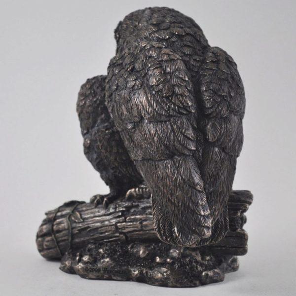 Photo of Owl and Baby Bronze Figurine