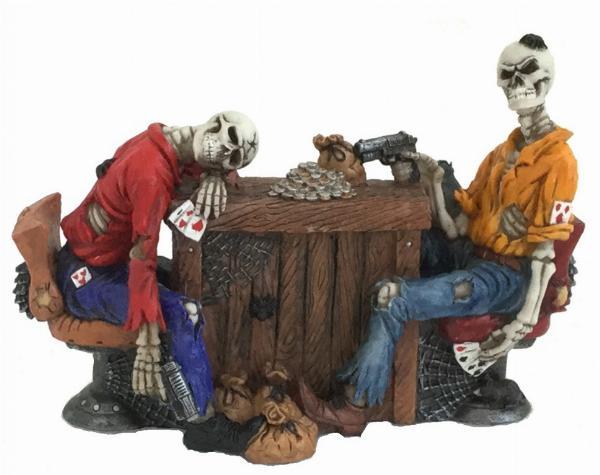 Photo of Poker Game Skeleton Figurine