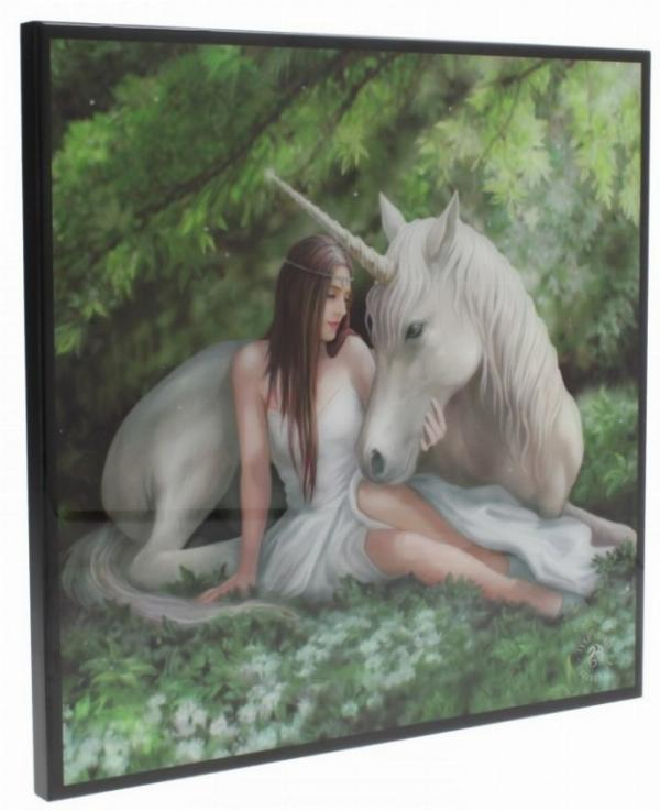 Photo of Pure Heart Crystal Clear Unicorn Picture (Anne Stokes)