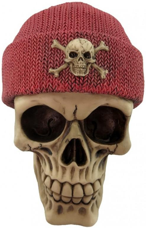 Photo of Red Beanie Hat Skull 16cm