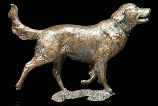 Photo of Retriever Dog Bronze Figurine (Limited Edition) Michael Simpson