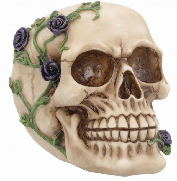 Photo of Skull and Roses Ornament Purple