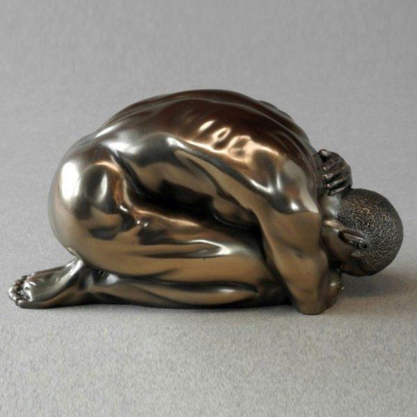 Photo of Solitude Male Nude Bronze Figurine